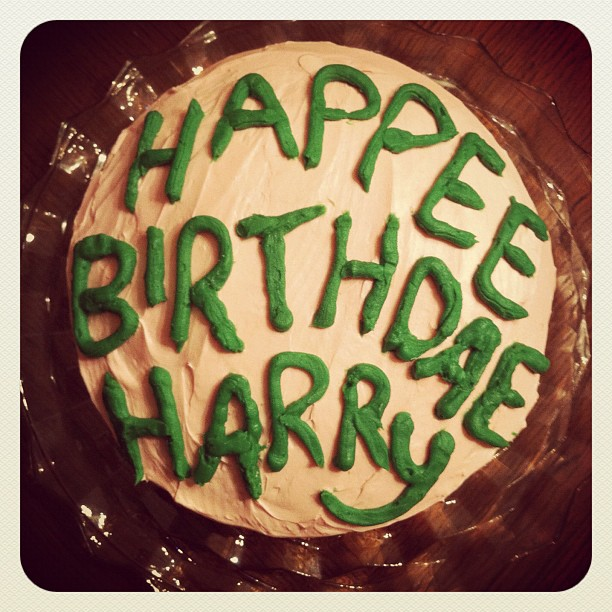 Olivia made this cake for Kates Harry Potter birthday party today