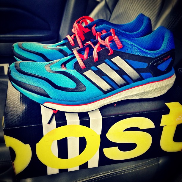 best service 95f2d 75ebd New kicks for NYC Marathon training – Adidas Energy Boost. Cant wait to  take these out on the road.