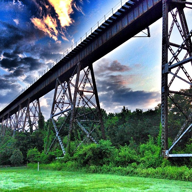 The Train Trestle In Shelby Park Just Before This Morning