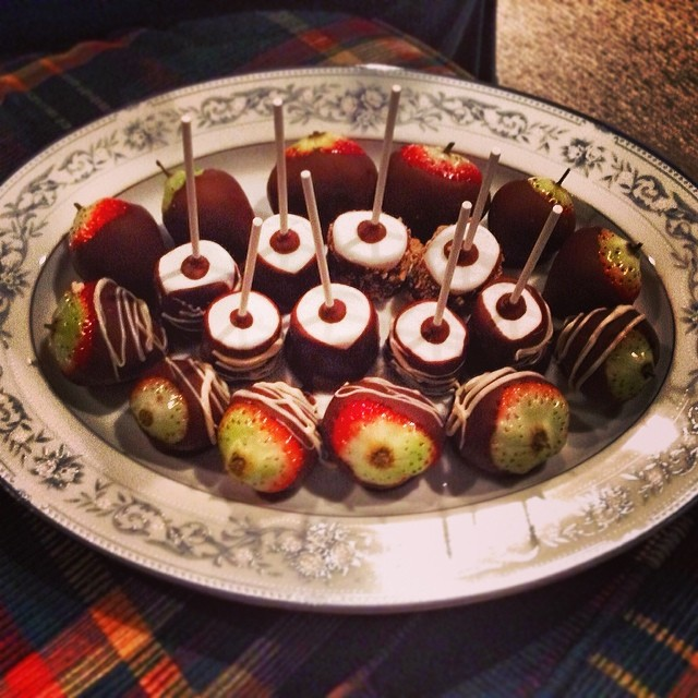 Olivia Outdid Herself For Dessert Chocolate Covered