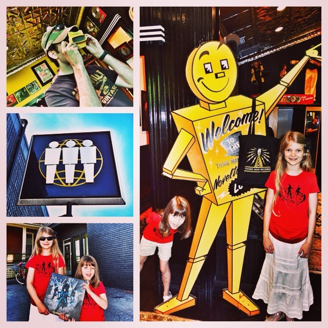 """The girls and I thoroughly enjoyed our first visit to @ThirdManRecords. We grabbed a copy of Jack White's """"Lazaretto"""" ULTRA LP and a new slip may for my turntable. What a cool place!"""
