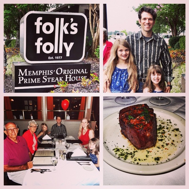 Birthday Dinner At Folk's Folly In Memphis. This Place Is