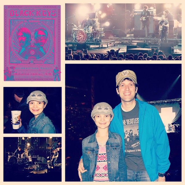 Had a great time last night with Kate at The Black Keys concert. Patrick and Dan put on a great show!!! #family #music