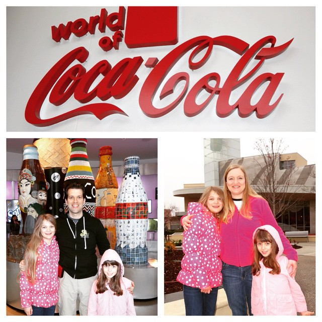 First Stop Today In Atlanta Is The World Of Coke Family