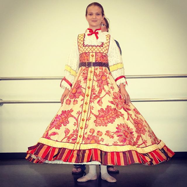 "Kate getting fitted for her Russian Nesting Doll costume for ""Nashville's Nutcracker"" with the @NashvilleBallet. #ballet #family"