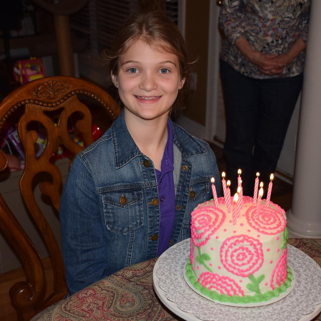 An early happy 11th birthday celebration for our beautiful daughter Kate. We love you Katerbug!! #family #nofilter #birthday