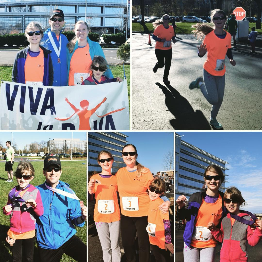 Team Agee had a great morning at the Viva la Diva 5k & 10k. We all finished the 5k and Sara won a medal for finishing 2nd in her age group. This was was pretty cool because she is only 6 and it was a 9 and under age group (there were lots of kids). I finished 14th overall in the 10k and 3rd in my age group. #family #running