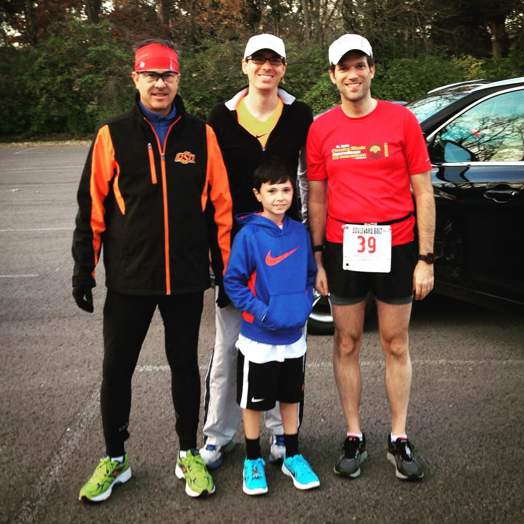 Great morning running the Boulevard Bolt 5-miler with the Lehman boys. Big congrats to Brian on a solid 34:12 finish. I came in with 35:34, which was better than expected. Finally starting to get my race legs back. Happy Thanksgiving everybody!!#running