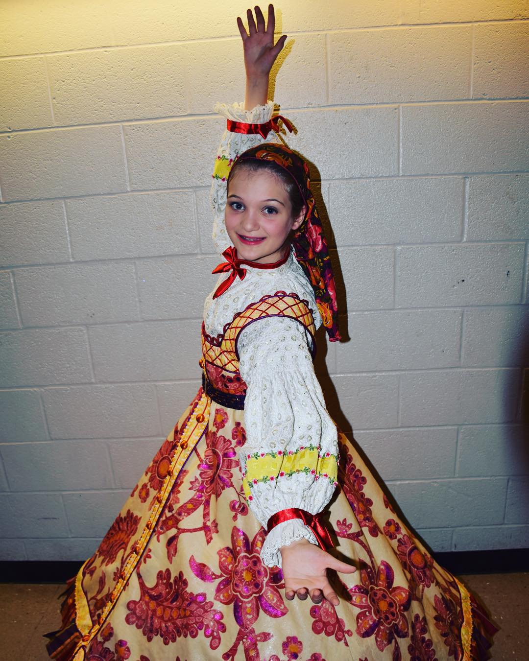 My beautiful Russian Nesting Doll from last night's final rehearsal for Nashville's Nutcracker at TPAC. First show is 2pm today, and we are very excited! #ballet #family