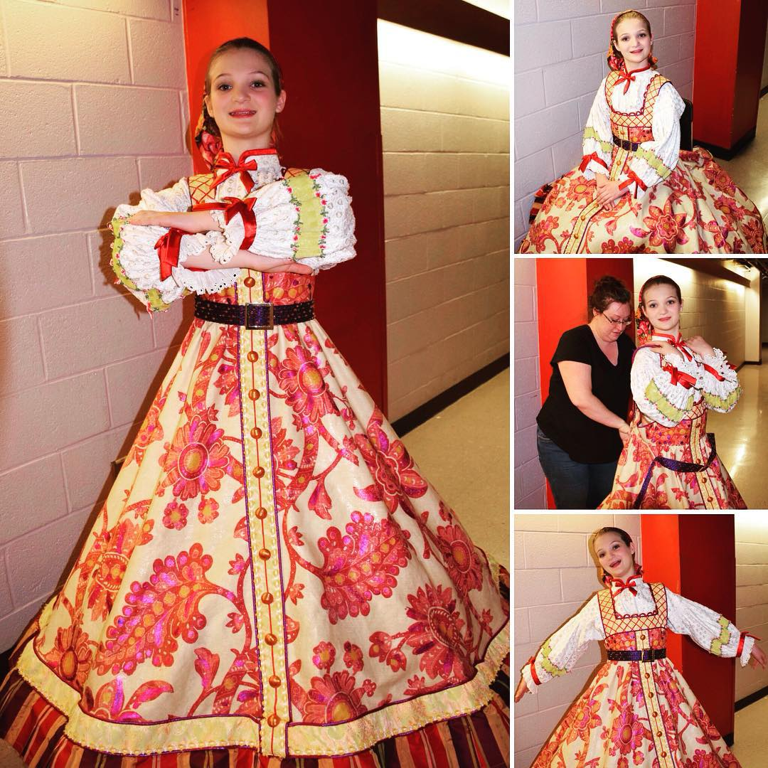 Our favorite Russian Nesting Doll just before her final performance in Nashville's Nutcracker with the Nashville Ballet. We're so proud of our ballerina! #ballet #family