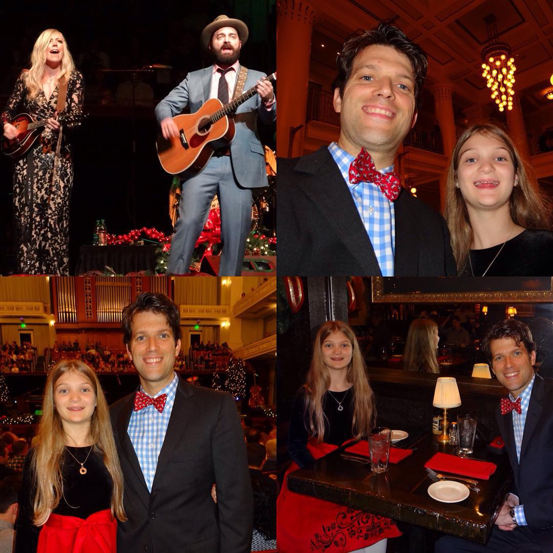 Another night, another date with my beautiful daughter. We had a big time with dinner at Sperry's followed by Drew & Ellie Holcomb's Neighborly Christmas at the Schermerhorn. #family