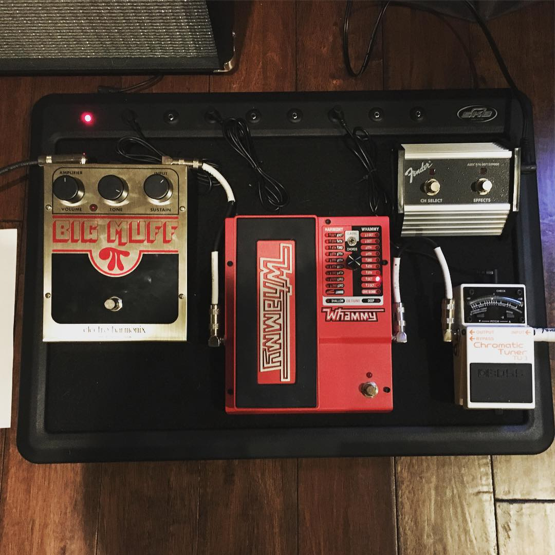Getting the pedalboard ready for the BCOC talent show in two weeks. Will be my first time to play #guitar in public. Excited and terrified at the same time!! #music