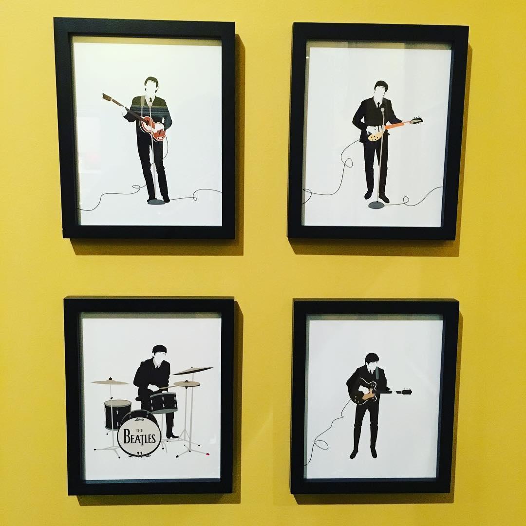 New art for the remodeled bonus room. #TheBeatles #music