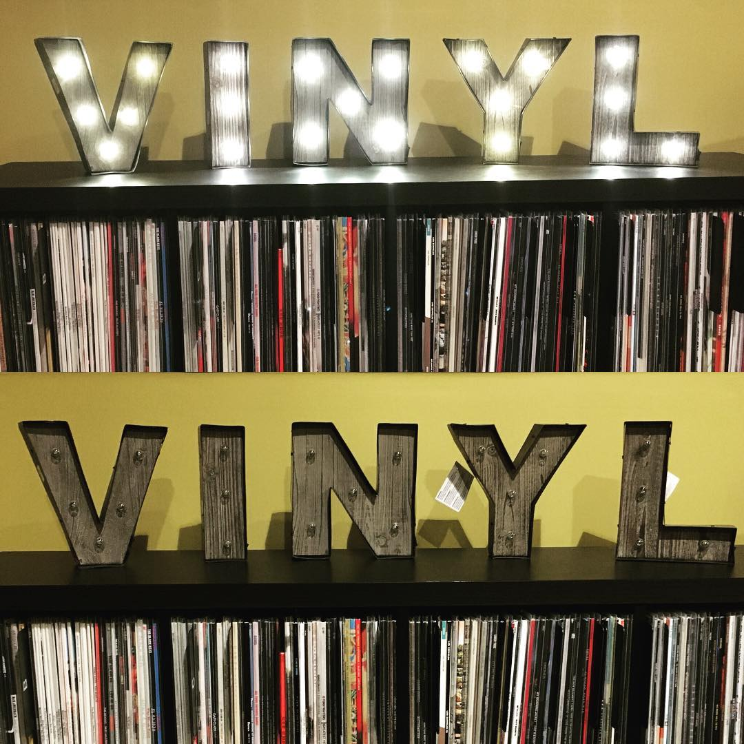 Fun new marquee letters to highlight our #vinyl record collection in the bonus room! #family #music