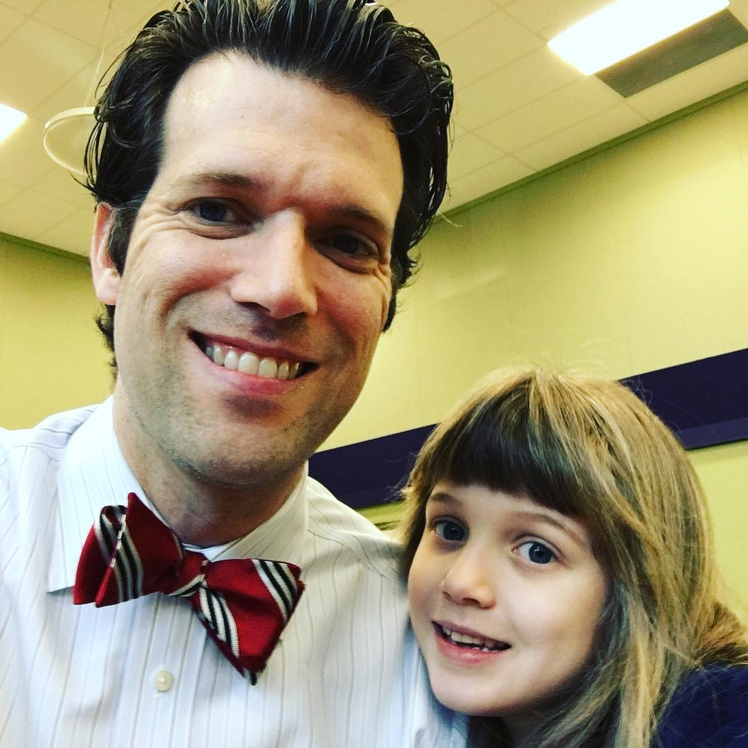 Donuts with Dad this morning at Sara's school. #family