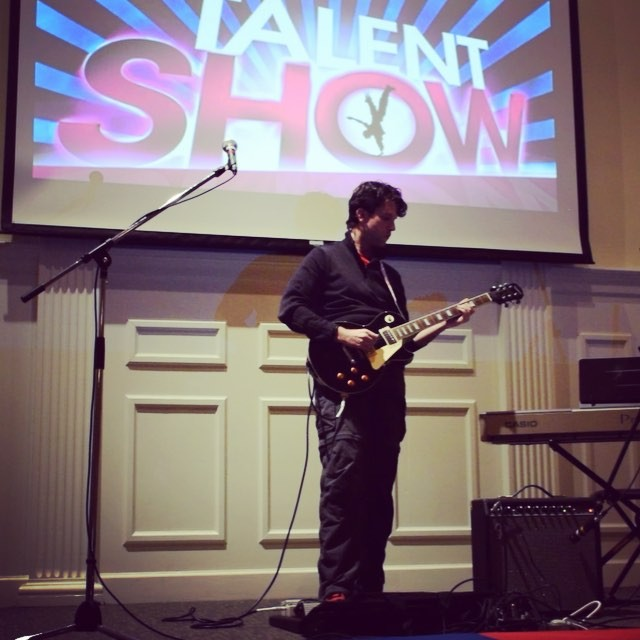 Short clip from my performance at the BCOC Talent Show tonight. It was wasn't always pretty, but I got through it. #guitar #music #TheWhiteStripes #IckyThump