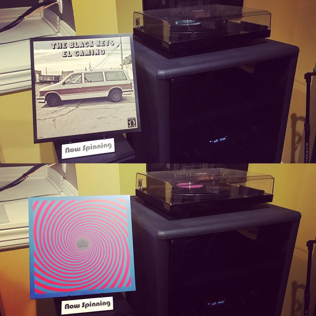 I let Sara pick out our #vinyl tonight while we played Monopoly. Turned into a Black Keys kinda evening. #music #nowspinning