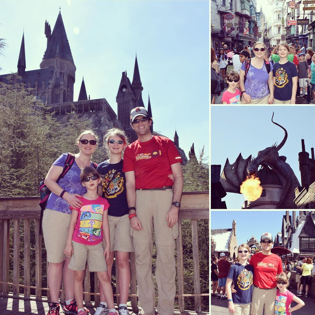 Spring Break Day 2 was at Universal Studios. The girls ran me ragged but still had a great time! #family #travel