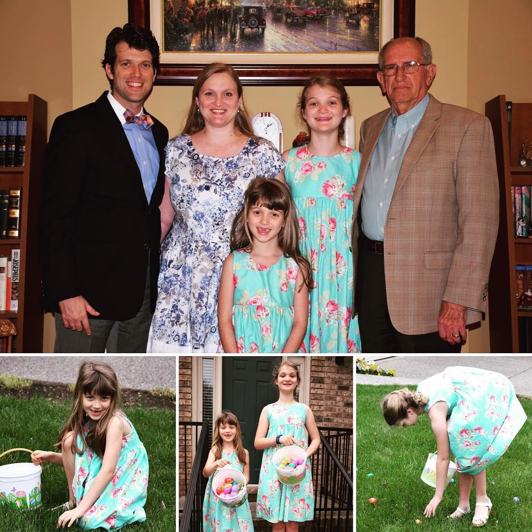 Happy Easter from the Agee family! #heisrisen #family