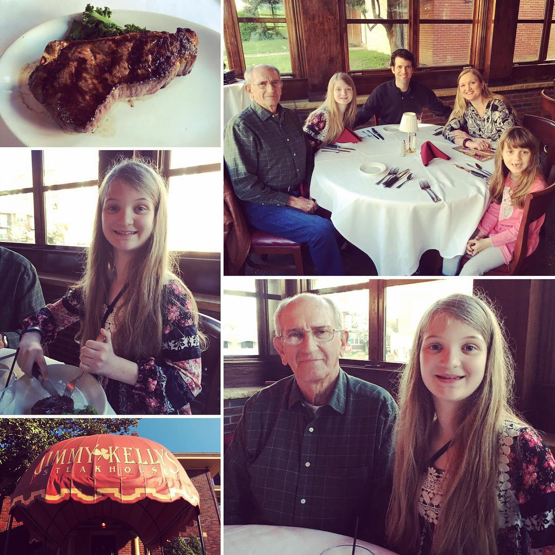Last night we had an awesome #family dinner at Jimmy Kelley's. It my first visit since high school. #food
