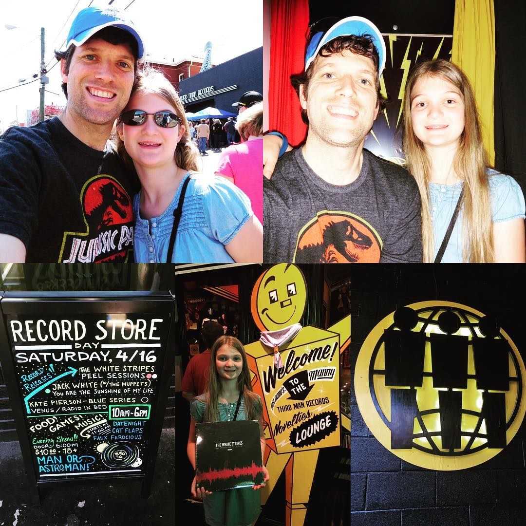 Record Store Day 2016 at Third Man Records with my Katerbug. @thirdmanrecordsofficial #rsd16 #vinyl #music