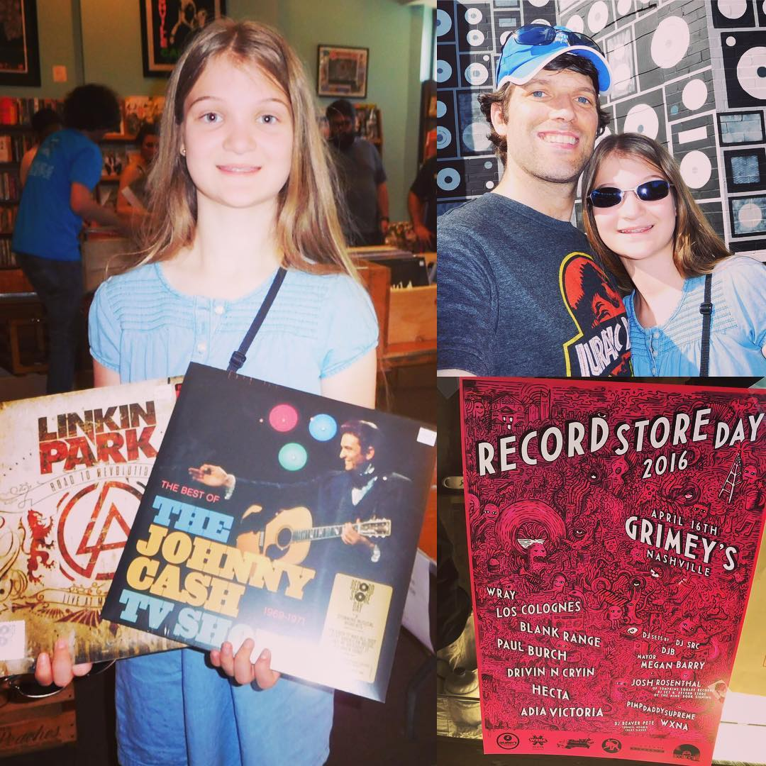 Even more Record Store Day 2016 with Katerbug. This time at @Grimeys - The best record store on the planet. #rsd16 #vinyl #music