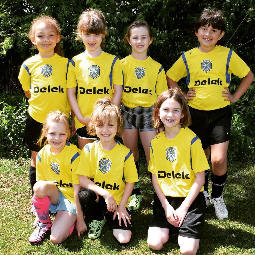 Sara's sweet little HYSA soccer team. #family