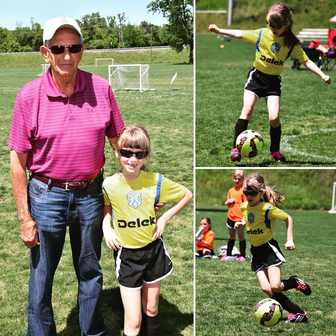 A few shots from Sara's soccer game this past Saturday. Really glad that Papa was able to join us! #family #soccer