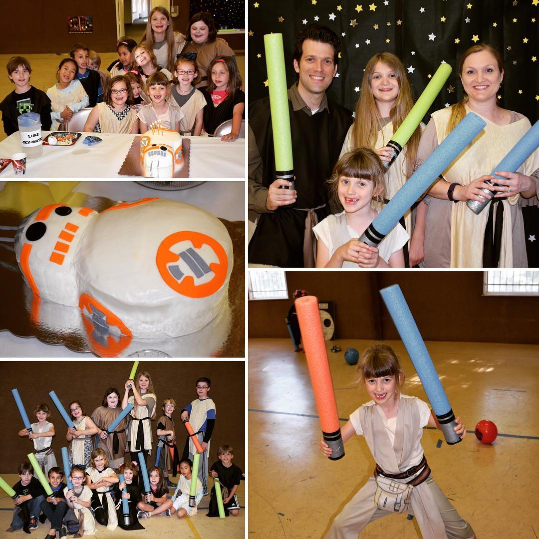 Scenes from Sara's epic Star Wars Party for her 7th birthday. My wife certainly knows how to throw a rockin' birthday shindig! #starwars #family #birthday