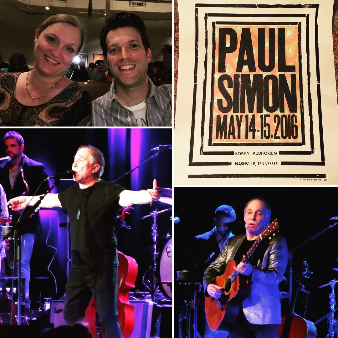 Paul Simon is easily one of my top 5 musicians of all time and last night he put on a great show at @TheRyman. The was my third time to see him in concert over the years, and he never disappoints. #music #PaulSimon