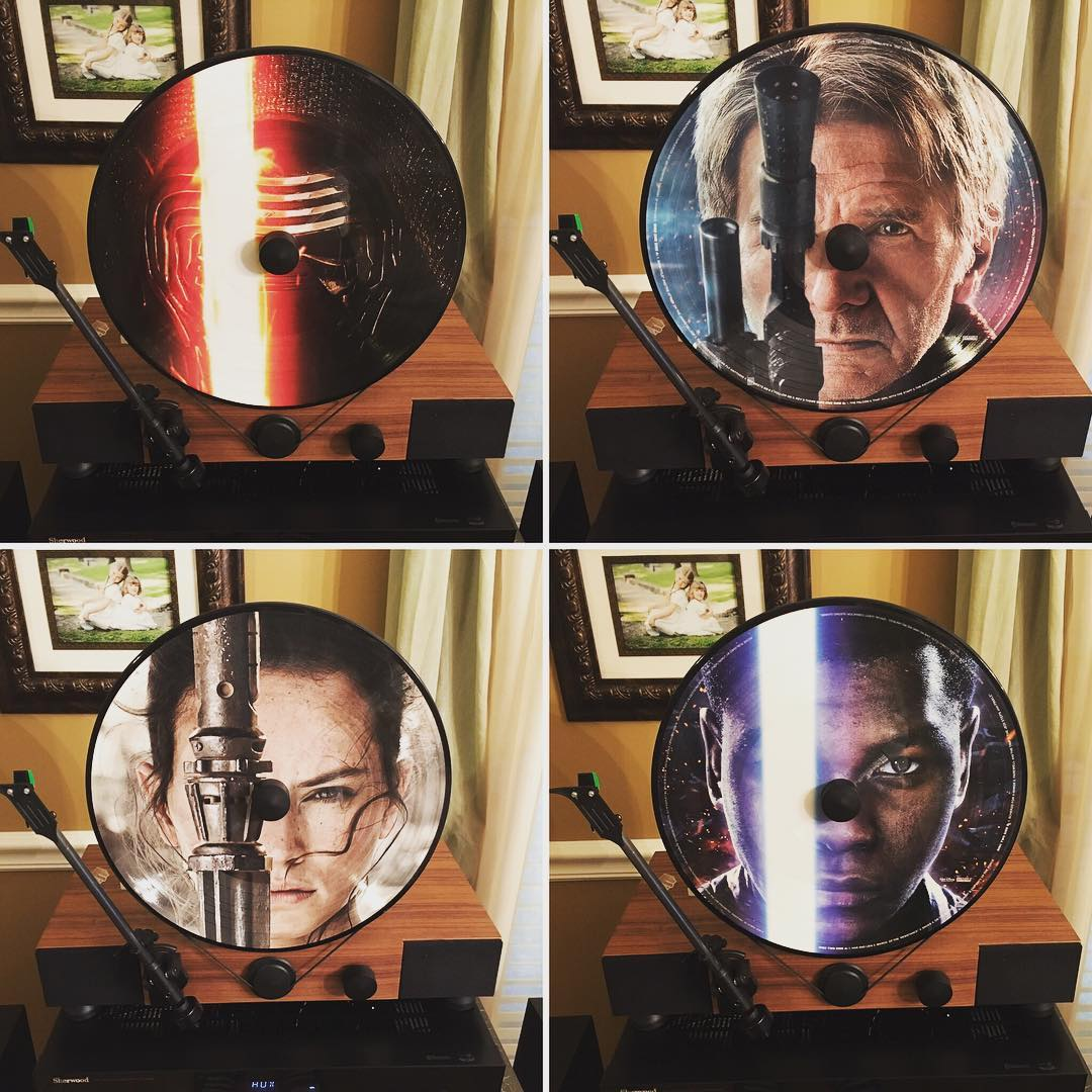 """Grabbed a #vinyl copy of """"The Force Awakens"""" soundtrack yesterday @Grimeys. It looks great on my @Gramovox Floating Record Player. #mygramovox #starwars"""