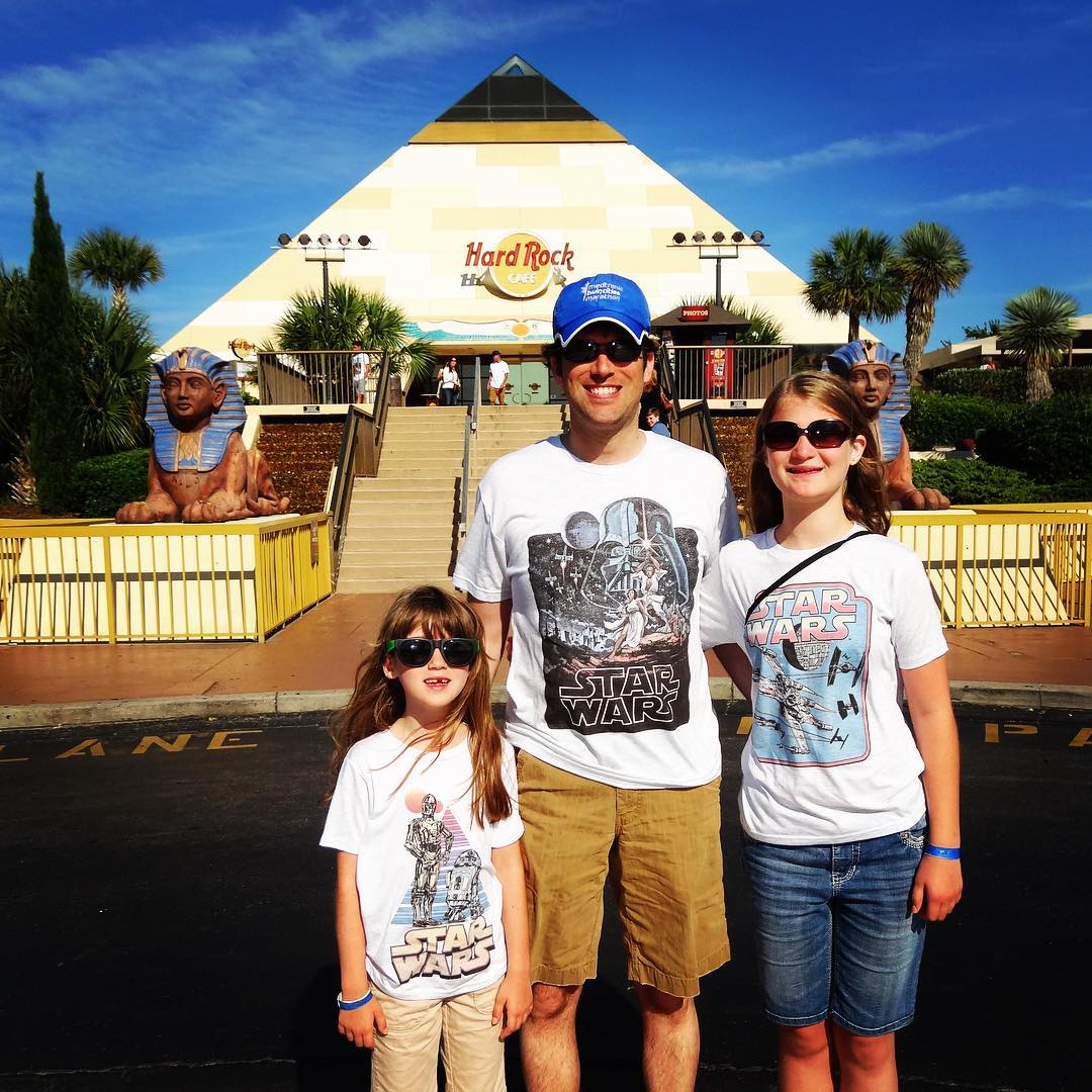 Eating at the Hard Rock Myrtle Beach for the last time. We first came here the summer it opened 21 years ago, and very soon the pyramid will be torn down. #family #vacation #myrtlebeach