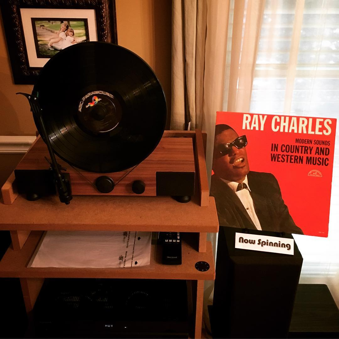 Been a #vinyl kinda day so far, and this has been the highlight. #music #mygramovox #linephonointhewild #raycharles