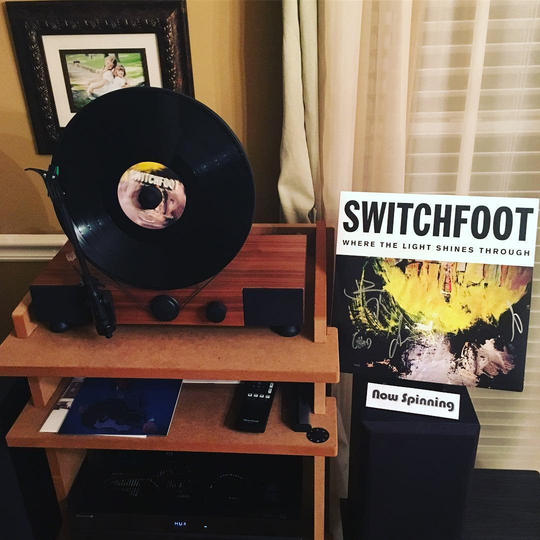 """For everyone who jumped off the @Switchfoot bandwagon after """"The Beautiful Letdown,"""" you've missed an incredible musical journey that now includes """"Where the Light Shines Through,"""" which is not only their best album so far, but the best album I've heard from anyone in 2016. #vinyl #wherethelightshinesthrough #switchfoot #music #mygramovox #linephonointhewild"""