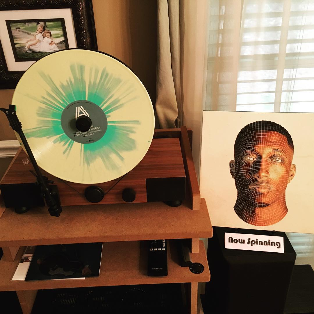 "I think this is the first rap #vinyl in my library. Not usually my thing, but ""Anomaly"" by @Lecrae is pretty solid musically and lyrically. Really sounds good on my @gramovox floating record player with a subwoofer. #music #mygramovox #nowfloating #linephonointhewild"