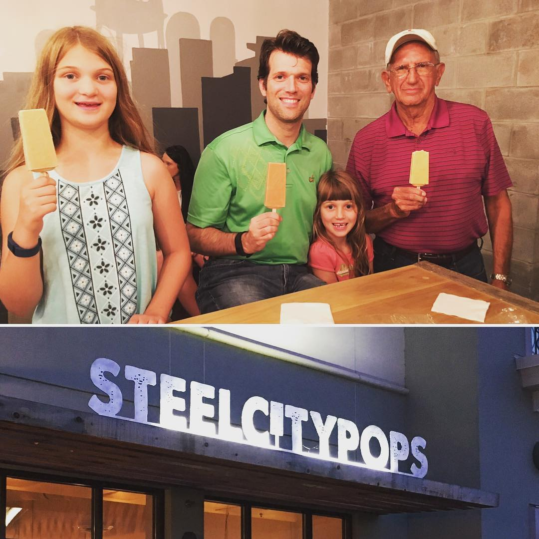 Birthday weekend in Huntsville starts with a trip to Steel City Pops. Yum. #family #food