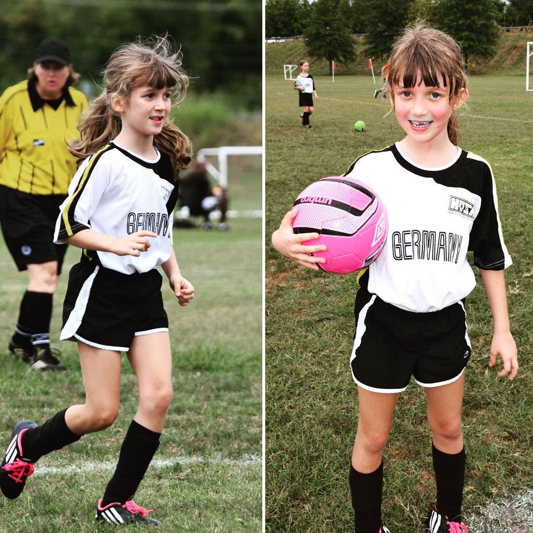Guess who had an awesome assist in her first game today with her new team? This Girl!! Go Sara! #family #soccer