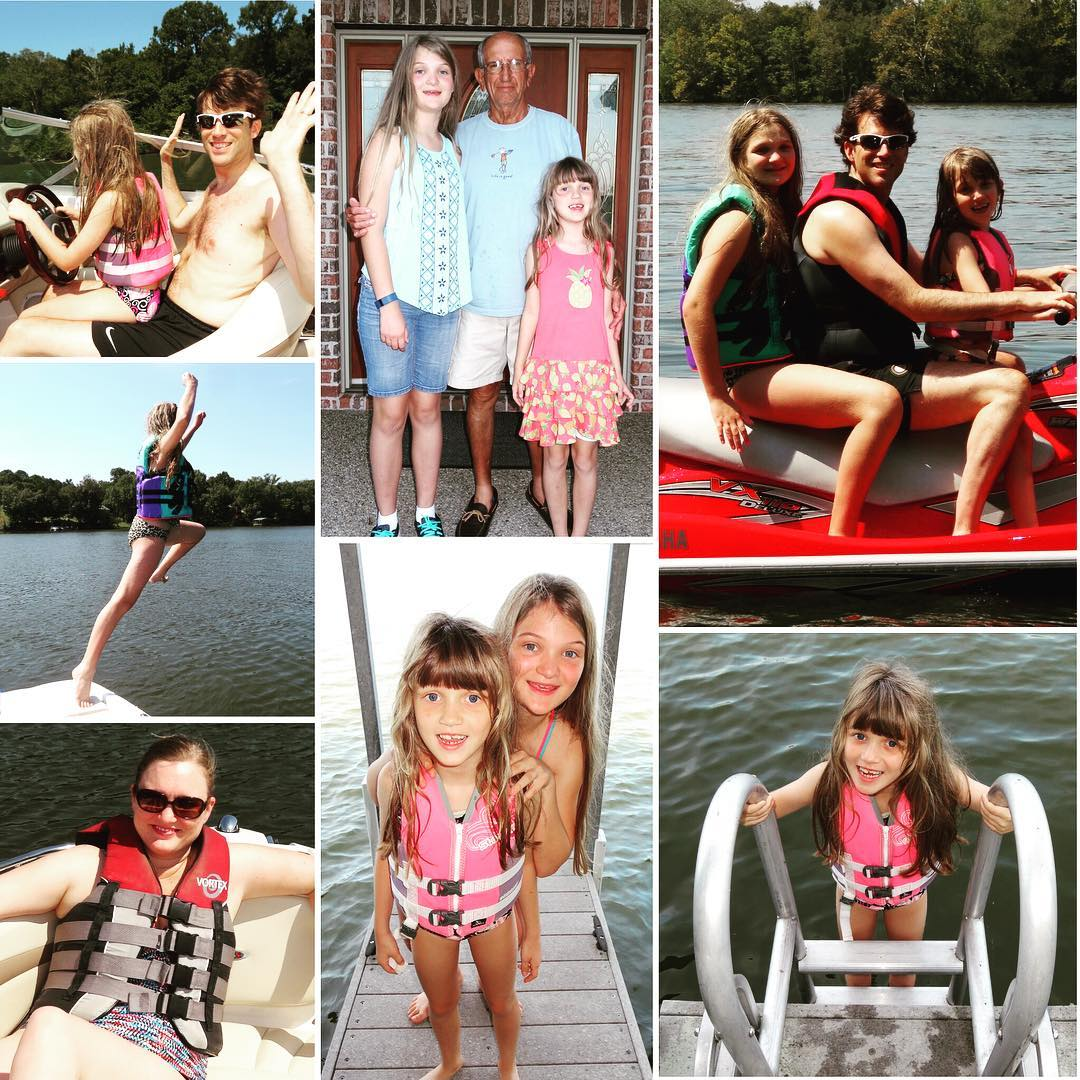 Fun Labor Day on the lake yesterday at Papa's house. #family