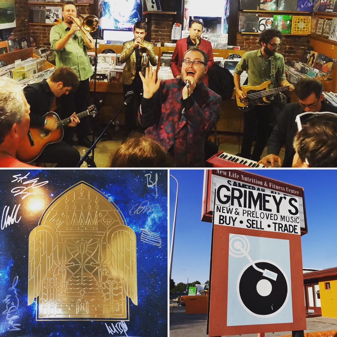So what's better than picking up a copy of the new St Paul and the Broken Bones record @grimeys? How about seeing the band perform 3 songs off the new album in the store and then sign your new record? Yep, that's better, and it just happened. #vinyl #music #stpaulandthebrokenbones