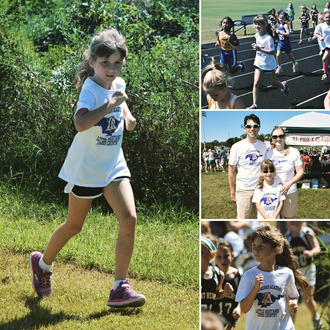 So proud of Sara for #running super hard during her first #crosscountry meet of the year! Go Sara!