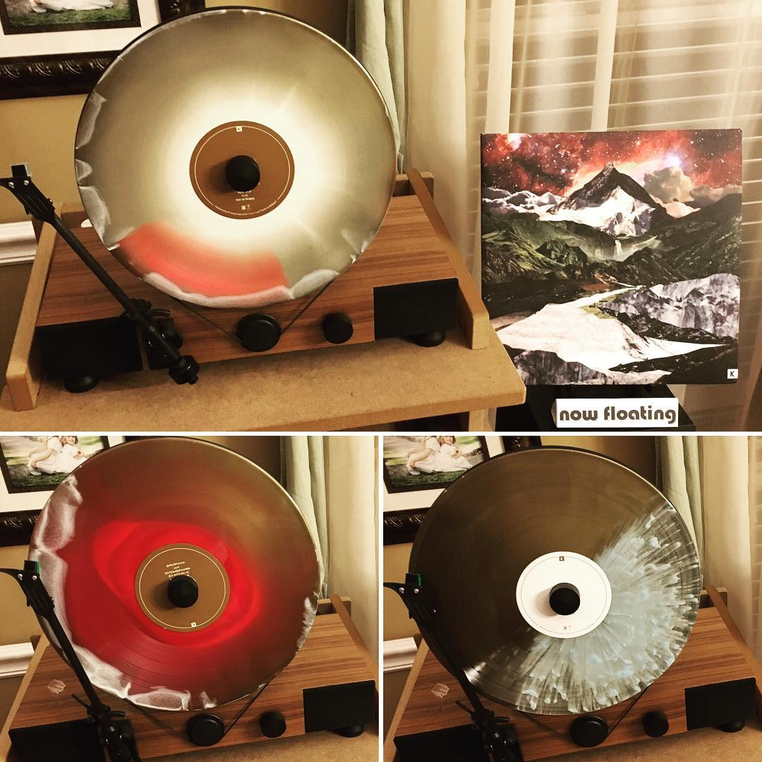"""Beyond Control"" from @kingskaleidoscope is #nowfloating on my @gramovox floating record player. This is a great album and a sweet #vinyl record. #music #kingskaleidoscope"