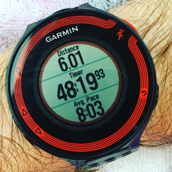 First run after my 20-miler on Saturday. Did the first mile in 8:58, and then did the final 5 under 8:00 (goal marathon pace). Haven't felt jump in my legs like this in a long time. #marathon #running #indianapolismonumentalmarathon