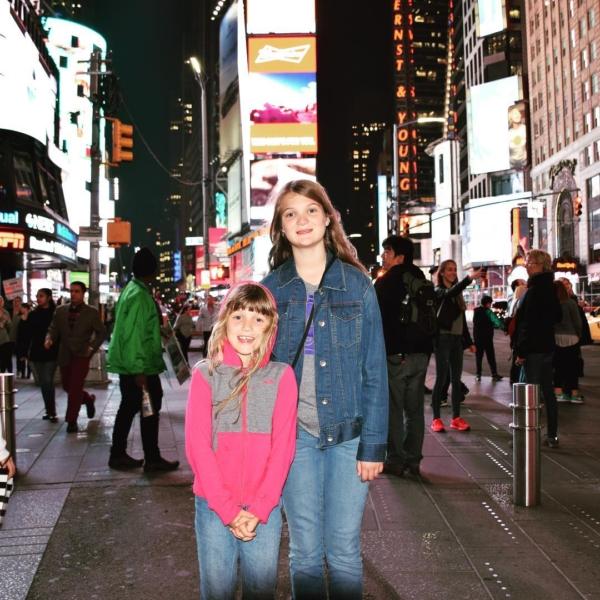 We're here!! Yay Mystery Vacation! #family #travel #newyork