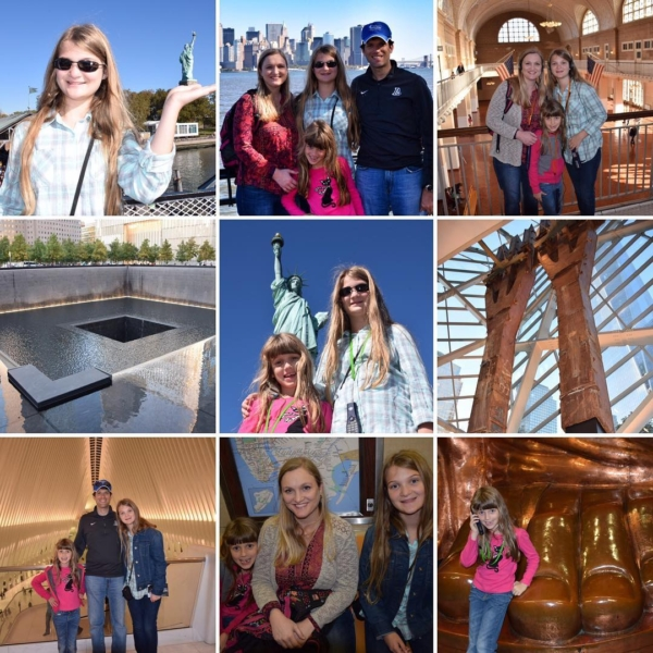 "As Kate said...""It felt like we crammed 5 days into 1!"" We did Statue of Liberty, Ellis Island, 9/11 Memorial and Museum, WTC Oculus, and dinner in Little Italy. Whew...I'm Exhausted, but it was a great day in NYC!! #travel #family #nyc🗽"