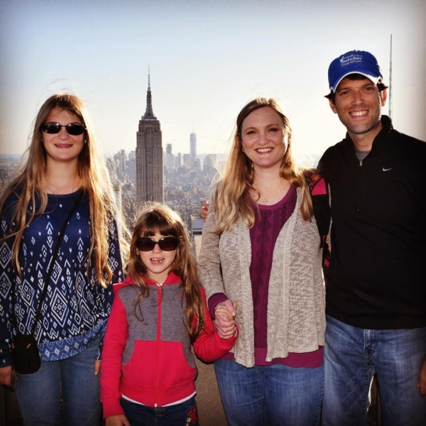Top of the Rock on a beautiful day in NYC. #family #travel #nyc
