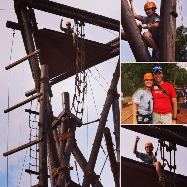 Super proud of Kate for overcoming her fears and climbing all the way to the top of the Alpine Tower by herself at Camp Cosby. #family #travel