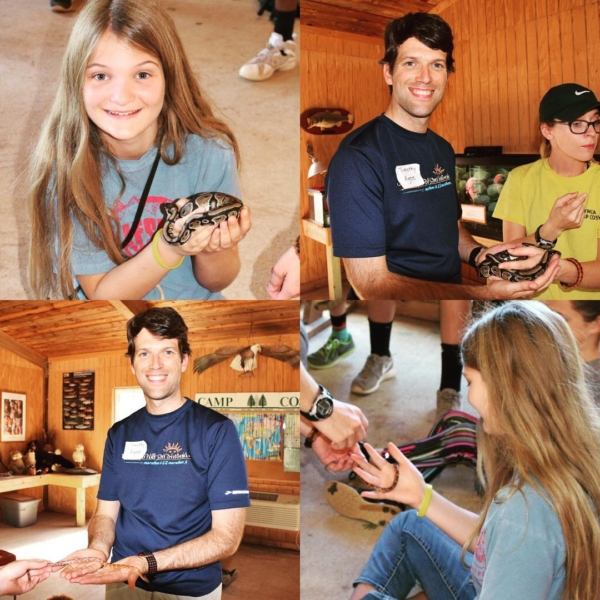 Snake handling at Camp Cosby! #family #travel