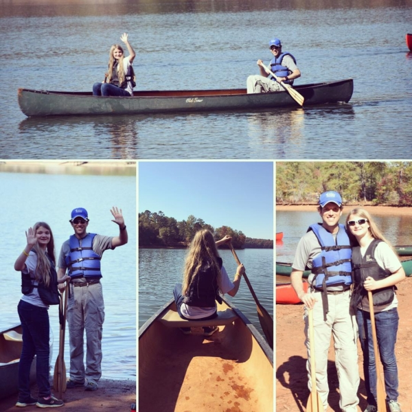 Two Agee's in a canoe at Camp Cosby! #family #travel
