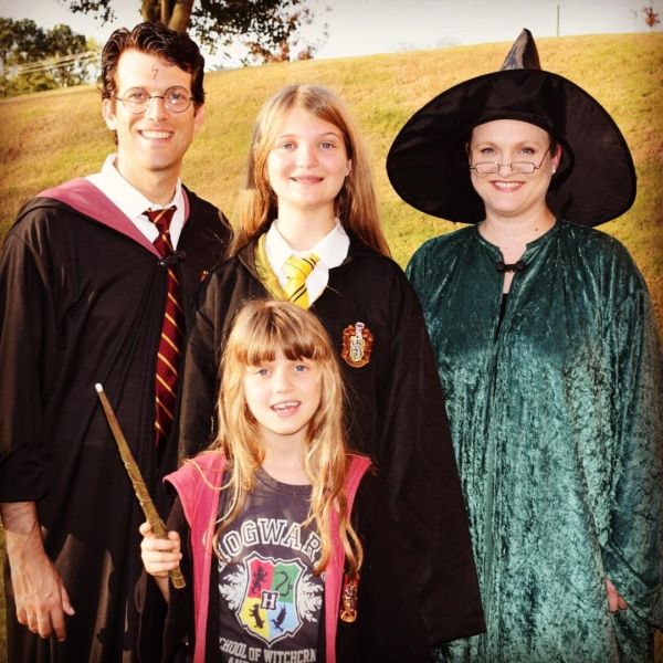 The Agee's are ready for #Hogwarts! #family #halloween #harrypotter