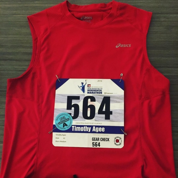 Flat Tim is ready. Not so sure about 3D Tim, but we'll find out in the morning. #indianapolismonumentalmarathon #running #marathon